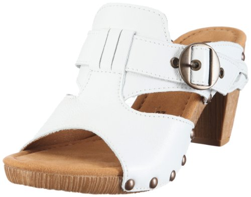 GABOR 23.801.21 Womens Mule, White 9 UK Over-Size
