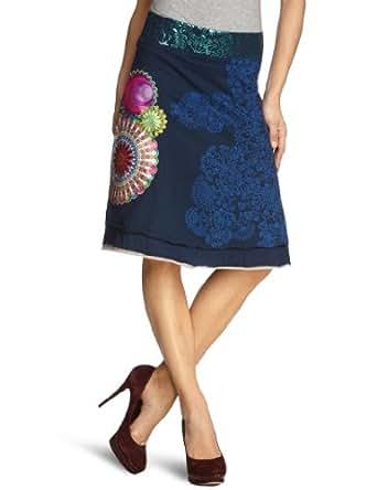 Desigual - Jupe - Femme - Bleu (Navy 5000) - FR : 38 (Taille fabricant : S)