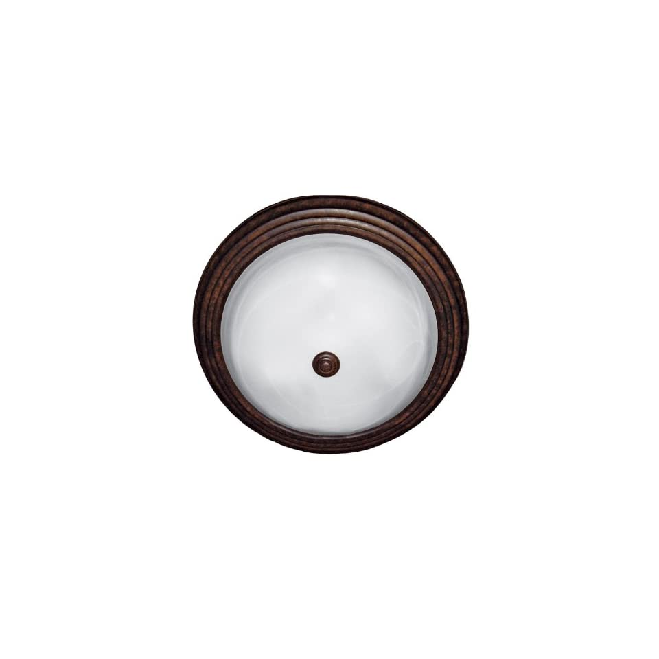 Yosemite Home Decor JK103 16DB Belen 3 Light 16 Inch Ceiling Flush Mount, Dark Brown Frame
