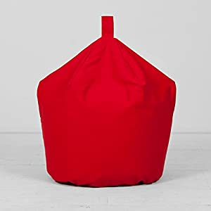 Extra Large XL Children's Kids Adult Cotton Bright Red Bean Bag Beanbag Filled from Creative Living