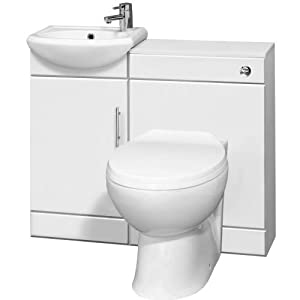 Bathroom Sink And Toilet Units : Bathroom Vanity Furniture One Tap Hole Basin Sink Unit and Toilet ...