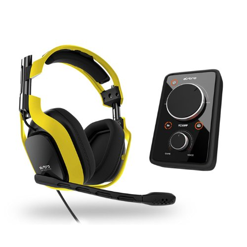 2013 Astro Gaming A40 Wired Audio System - Neon Edition - Yellow W/ Mixamp Pro