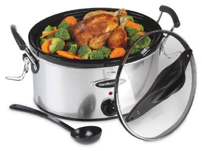 Hamilton Beach Brands 33162H Slow Cooker, Stainless Steel, 6-Qt. by Hamilton Beach Brands