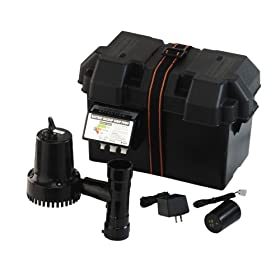 Wayne ESP15 12-Volt 1750 Gallons Per Hour Battery Back Up Sump Pump System