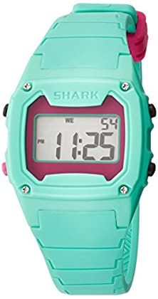 buy Freestyle Unisex 102281 Classic Green Case Digital Silicone Strap Watch