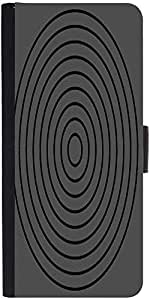 Snoogg Circular Target 2902 Graphic Snap On Hard Back Leather + Pc Flip Cover...