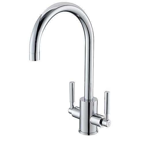 VAPSINT® Very Sturdy Paris Designer Chrome Kitchen Sink Mixer Valve Tap, GreatSolid Kitchen Tap