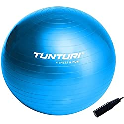 Tunturi Gym Ball - Palla Da Ginnastica Con Pompa Di Gonfiaggio, 65 cm