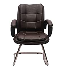 VJ 273-VISITOR-LB Office Chair (Natural Finish, Black)