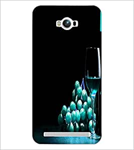 PrintDhaba Blue Berries D-3808 Back Case Cover for ASUS ZENFONE MAX ZC550KL (2016) (Multi-Coloured)