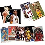 40 Basketball Hall-of-Fame and Superstar Cards Collection Including Players such as Michael Jordan, Kobe Bryant, Magic Johnson, Shaquille ONeal, Tim Duncan, Larry Bird, LeBron James, Karl Malone, Kevin Garnett, David Robinson, and Reggie Miller. Ships in Protective Plastic Case Perfect for Gift Giving.
