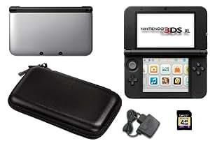 Nintendo 3DS XL silberfarben, mit Tasche und Netzteil