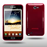 SAMSUNG GALAXY NOTE TPU GEL CASE BY CELLAPOD CASES REDby CELLAPOD