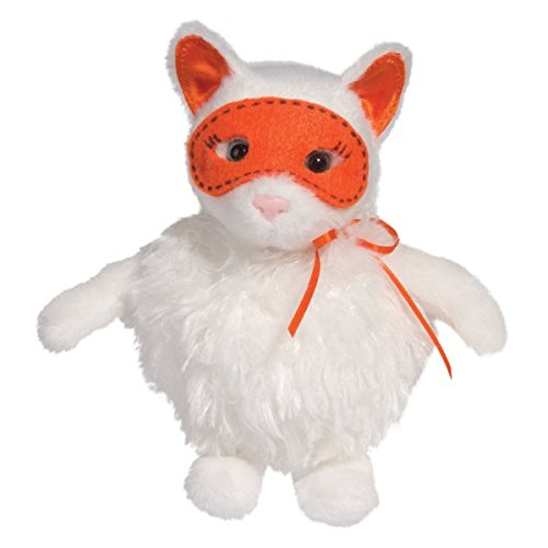 "Cotton Ball Puff White Cat 8"" by Douglas - 1"