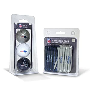 NFL New England Patriots 3 Pack Golf Balls (50 Pack Team Tees)