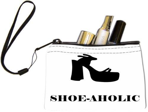 Rikki Knighttm Shoeholic Funky Sandal Keys Coins Cards Cosmetic Mini Clutch Wristlet front-566322