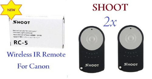 Shoot Miniature Infrared Shutter Release Remote Control RC-5 for Canon EOS Rebel XT / 350D / Kiss Digital N Cameras!