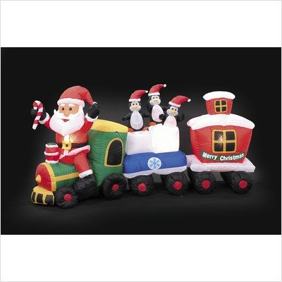 Inflatable Santa Train front-505339