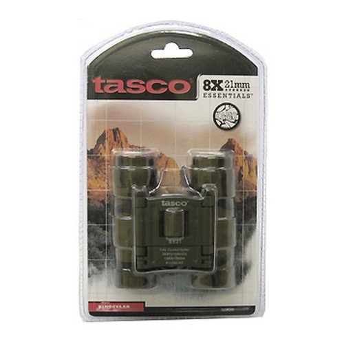 Tasco Essentials 8X 21Mm Roof Prism Compact Binocular (Brown Camo)