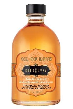 Kama Sutra Oil of Love, Tropical Mango, 3.4 Ounces