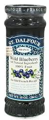 St. Dalfour  Fruit Spread 100 Natural Jam Wild Blueberry  10 oz.