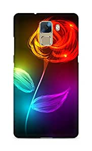 Amez designer printed 3d premium high quality back case cover for Huawei Honor 7 (Abstract Beautiful Rose)