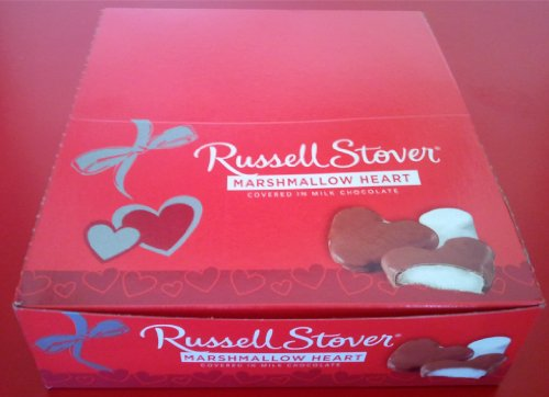 Marshmallow Hearts, Milk Chocolate (Box of 18) (077260002686)
