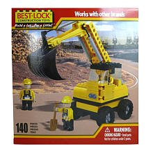 Best-Lock Digger Construction Playset - 3 Mini Figures, 1 Shovel, and 1 Construction Equipment Piece - 1