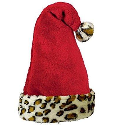 NEW Hot SELLER Toddler Kids Teens Christmas Holiday Red Santa Hat Leopard