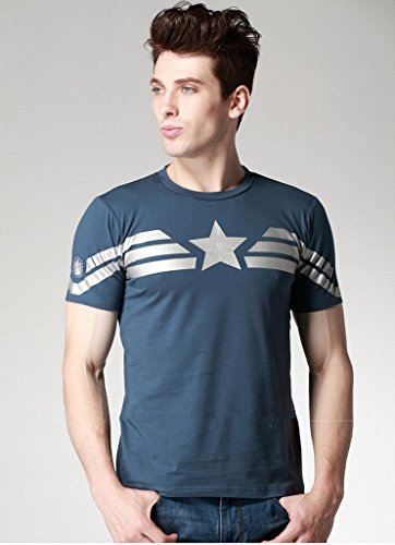 Cos-me Captain America 2 Winter Soldier T-shirt for Men Costume Cosplay