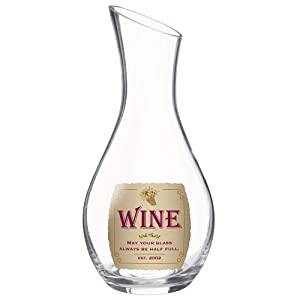 Grasslands Road in Vino Veritas Glass Wine Decanter, 38-Ounce by Grasslands Road