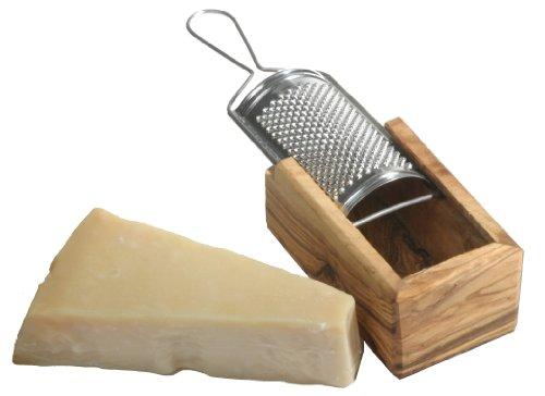 Käsereibe aus Olivenholz Parmesan Reibe