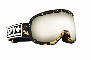 Spy Men's Marshall Ski Goggles - Matt Black/Acid Reign/Silver Mirror Lens Inc Flight Strap