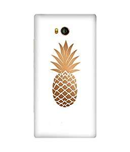 Copper Pineapple Printed Back Cover Case For Gionee Elife E8
