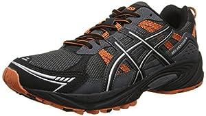 ASICS Men's Gel-Venture 4 Running Shoe,Charcoal/Black/Orange,8.5 M US