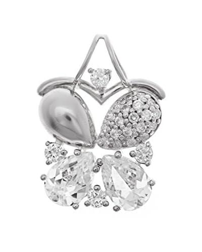 Folli Follie Colgante Crystals Plateado