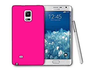 Snoogg Plain Pink Printed Protective Phone Back Case Cover For Samsung Galaxy NOTE EDGE