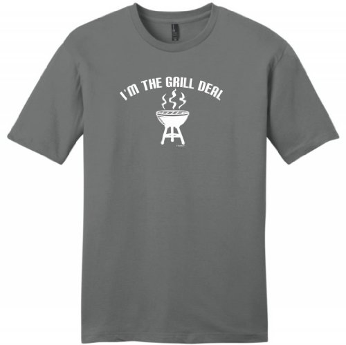 I'M The Grill Deal Funny Bbqing Young Mens T-Shirt Medium Grey