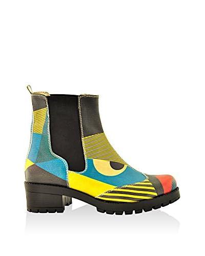 GOBY Chelsea Boot Las101 schwarz/gelb