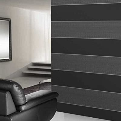 Bold Stripe' wallpaper in Charcoal, Grey & Silver from wallpaper heaven