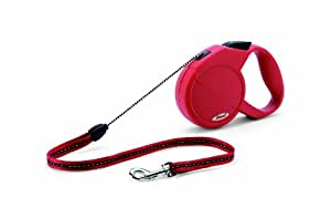 Flexi Explore Retractable Cord Dog Leash, Small, 23-Feet Long, Supports up to 26-Pound, Red