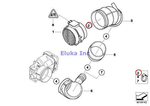2 x BMW Genuine Oil Cooling Fuel Injection Intake Manifold Hose Clamp L95-102 840Ci 840i 740i 740iL 525i 530i 540i 323i 325i 325is 328i M3 M3 3.2 740i 740iL 740iLP 750iL 750iLP 525i 528i 530i 540i 540iP M5 325Ci 325i 330Ci 330i 330xi M3 ALPINA V8 X5 3.0i X5 4.4i X5 4.6is X5 4.8is 545i 550i M5 550i 645Ci 650i M6 650i 645Ci 650i M6 6 (Engine Oil Cooling Bmw X5 compare prices)
