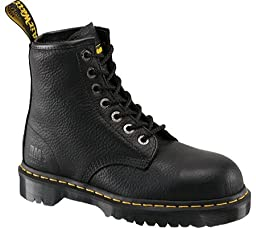Doc Martens Boots: Men\'s Steel Toe 6 Inch Work Boots R12231002 - Black - 8