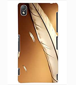 ColourCraft Lovely Feathers Design Back Case Cover for SONY XPERIA Z3