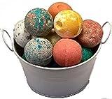 SPLENDEUR SPRING Bucket O'LUSCIOUS Bath Bomb Fizzes(12)-Wrapped-2