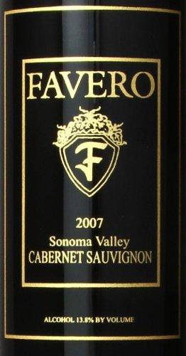 2007 Favero Cabernet Sauvignon Sonoma Valley Estate 750 Ml
