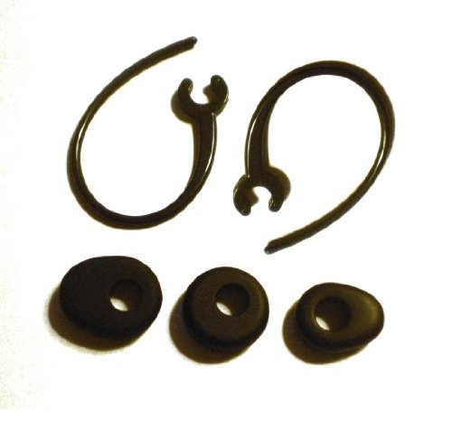 Set New 1 Small 1 Medium 1 Large Black Ear Buds And 2 Ear Hooks For Motorola Hk210 Hk201 Hk202 Hk100 Hk200 H12 H15 H270 H780 H620 H560 H390 H790 H680 H681 H690 H691 H695 Bluetooth Headset Ear Loops Clips Buds Gels Tips Loop Clip Hook Stabilizers Earhooks