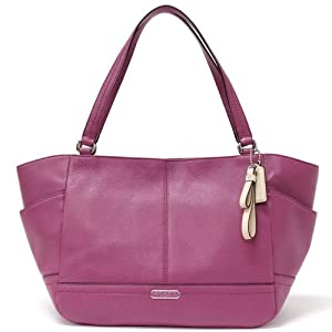 Coach Park Leather Carrie Tote 23284 Amethyst