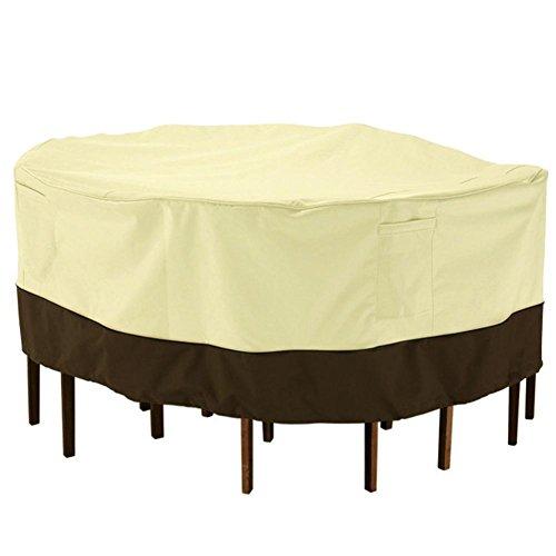 soledi veranda terrasse tisch stuhl abdeckung f r runden gartentisch gartem bel staubschutz. Black Bedroom Furniture Sets. Home Design Ideas