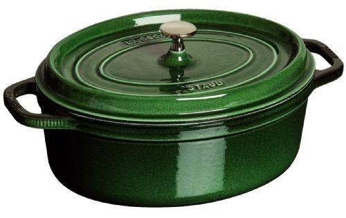 Staub ココット オーバル 23cm バジルグリーン 40509-646(1102385)